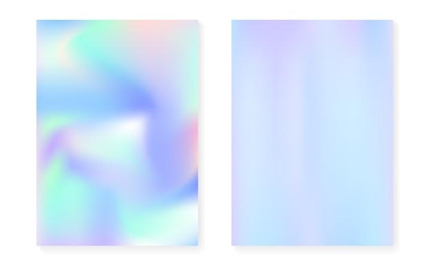 Holograficzne tło gradientowe z okładką z hologramem.