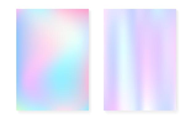 Holograficzne tło gradientowe z pokrywą hologramu.