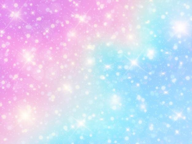 Holograficzne tło jednorożca