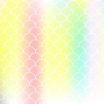 Holograficzne tło syrenka z gradientową skalą