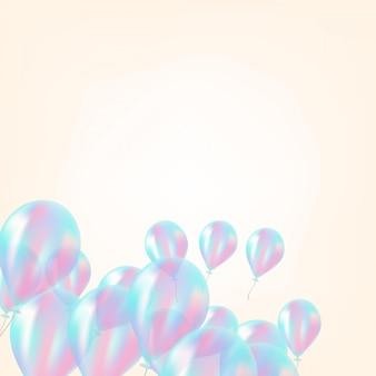 Holograficzny balon tło