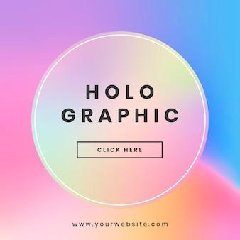 Holograficzny projekt banera strony internetowej