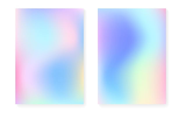 Holograficzny zestaw gradientowy z okładką z hologramem.
