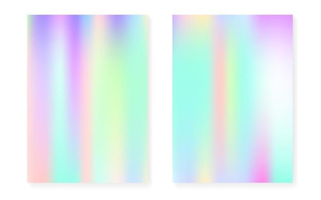 Holograficzny zestaw okładek z hologramowym tłem gradientowym