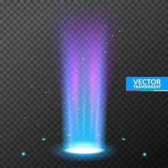 Hologram portal magiczna ilustracja efekt podium