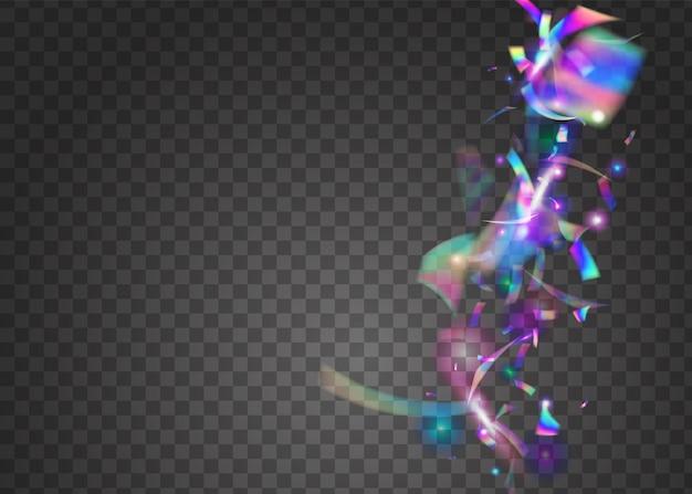 Hologram tekstury. folia cyfrowa. retro transparent. fioletowy blichtr laserowy. konfetti bokeh. metalowe realistyczne światło słoneczne. sztuka surrealistyczna. efekt karnawału. niebieska tekstura hologramu