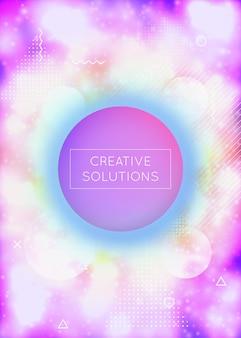 Hologram tekstury. ulotka naukowa. holograficzny wzór. nowoczesny kształt. kompozycja perłowa tech. prezentacja w niebieskim świetle. miękka grafika. żywe kropki. fioletowa tekstura hologramu