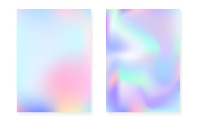 Hologramowe tło gradientowe