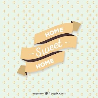 Home sweet home wstążką