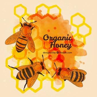 Honeycombed ręcznie malowane