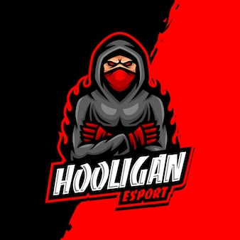 Hooligan maskotka logo esport gaming
