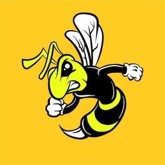 Hornet logo maskotka pszczół