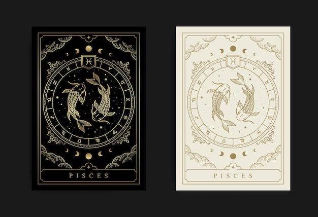 Horoskop i symbol zodiaku dla ryb