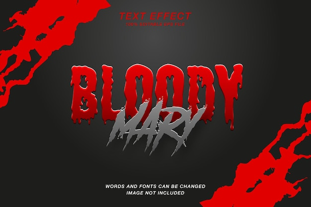 Horror bloody mary text effect