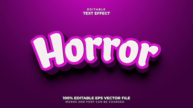 Horror efekt tekstowy 3d