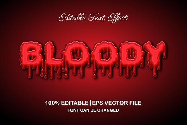 Horror krwawy edytowalny efekt tekstowy w stylu 3d