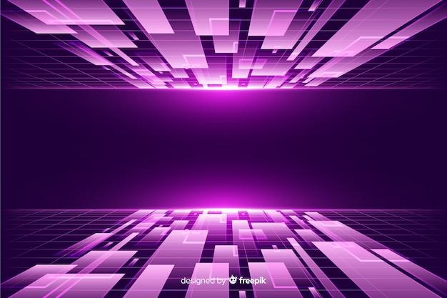 Horyzont futurystyczne tło
