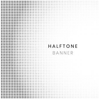 Horyzontalny gradientowy halftone wzór, kropki tło. szablon pop-artu, tekstury
