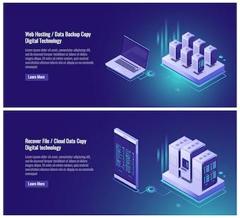Hosting, kopiowanie kopii danych, odzyskiwanie koncepcji plików, przechowywanie danych w chmurze