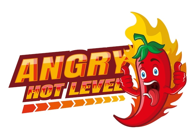 Hot chili z gniewną ekspresją ilustracji