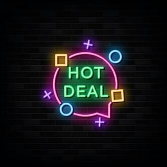 Hot deal neon signs szablon projektu neon style