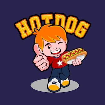 Hot dog kid