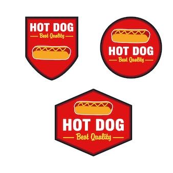 Hot dog logo design vector set