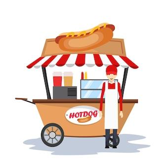 Hot dog sprzedający