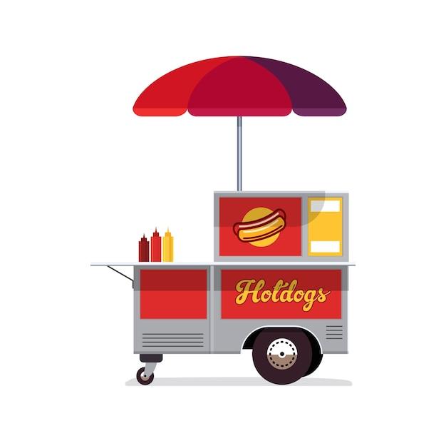 Hot dog street cart