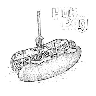 Hot dog w wyciągnąć rękę