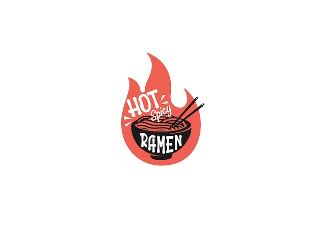 Hot spicy ramen design