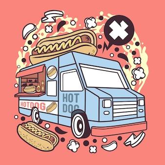 Hotdog van cartoon