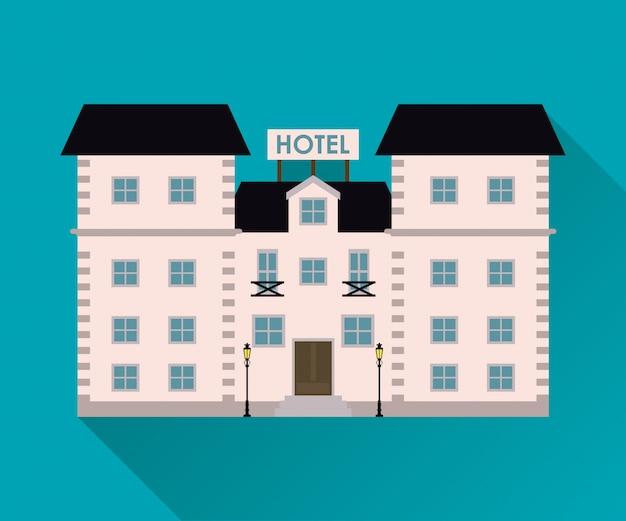 Hotel. ikona usługi.