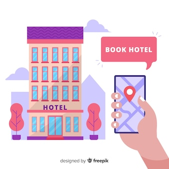 Hotelowy rezerwaci pojęcia tło