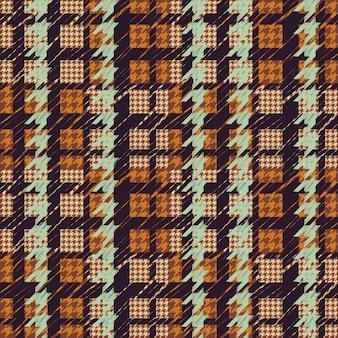 Houndstooth wzór, kolorowe