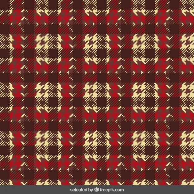 Houndstooth wzór na tkaninie
