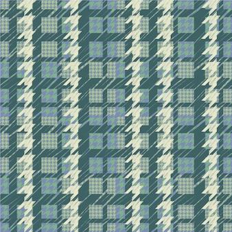 Houndstooth wzór w odcieniach zieleni