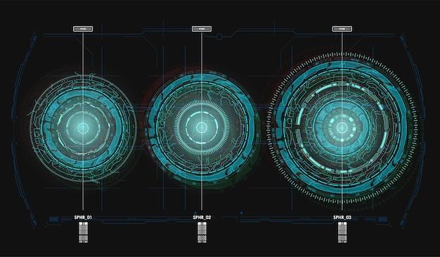 Hud futuristic spin circles.