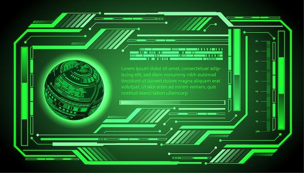 Hud światu zieleni cyber obwodu obwodu technologii pojęcia przyszłościowy tło