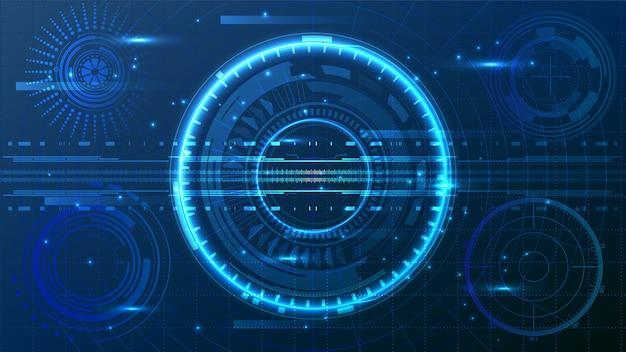 Hud ui aplikacja biznesowa futurystyczny interfejs użytkownika hud