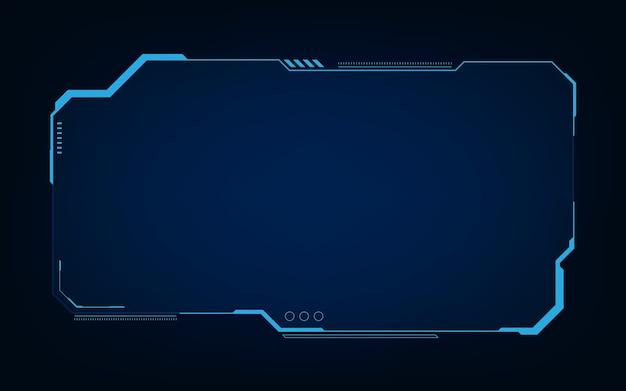 Hud, ui, gui futurystyczny interfejs użytkownika elementy ekranu. ekran high-tech do gier wideo. projekt koncepcyjny science-fiction.