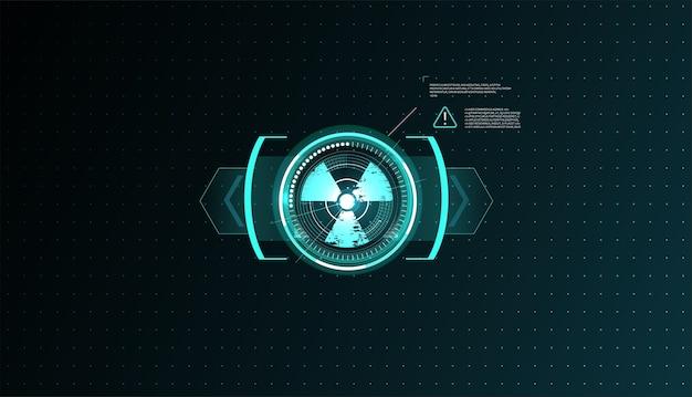 Hud ui gui futurystyczny zestaw elementów ekranu interfejsu użytkownika. ekran high-tech do gier wideo.