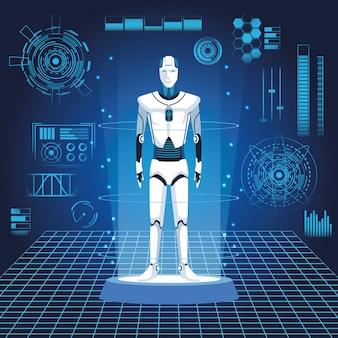 Humanoidalny awatar robota