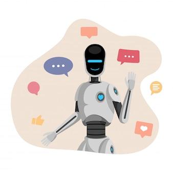 Humanoidalny robot, chatbot