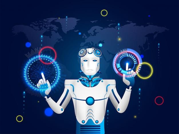 Humanoidalny robot.