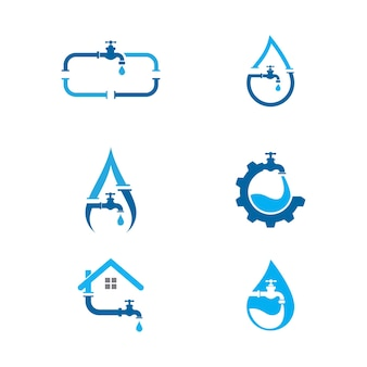 Hydraulika logo wektor ikona ilustracja projektu szablon