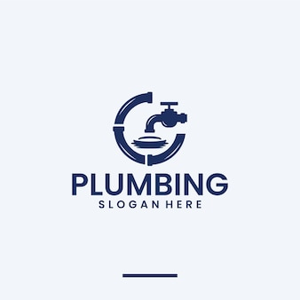 Hydraulika, rura, inspiracja do projektowania logo