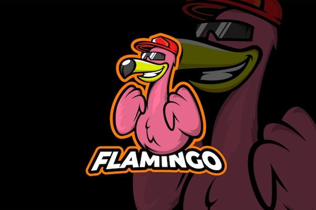 Hype flamingo - szablon logo esport