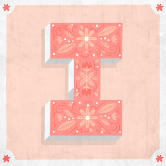 I kreatywny kwiatowy literą alfabetu