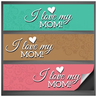 I love my mom dzień matki facebook banner